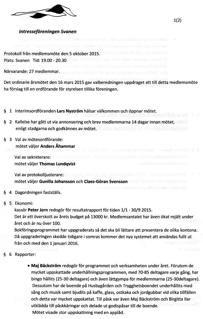 Protokoll  5 okt -15 sida 1